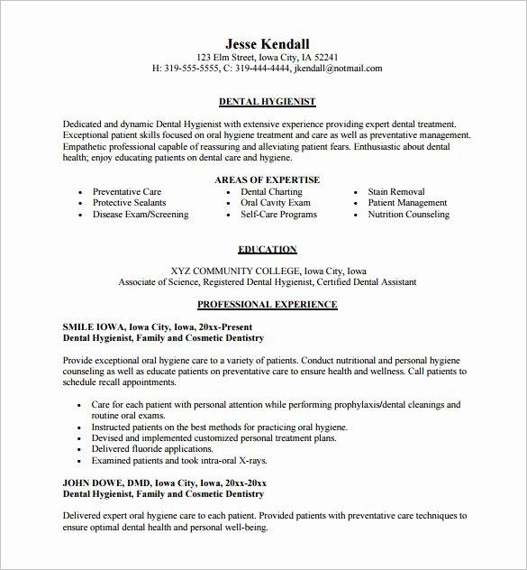 Dentist Cv Sample Pdf Lovely Dental assistant Resume Template 5 Free Word Excel