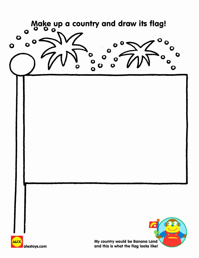 Design Your Own Flag Worksheet Lovely Printable Creative Activities for Kids Alexbrands