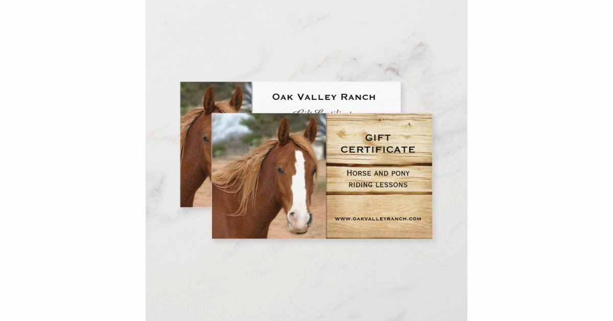 Disney Gift Certificate Template Fresh Horse Riding Lessons Gift Certificate Template