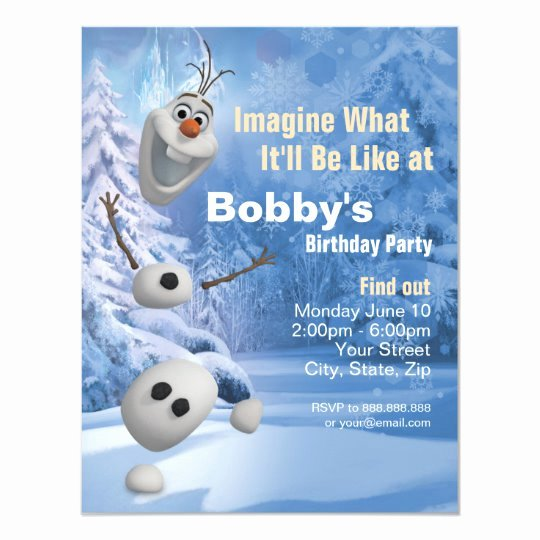 Disney Gift Certificate Template Luxury Frozen Olaf In Pieces Birthday Party Invitation