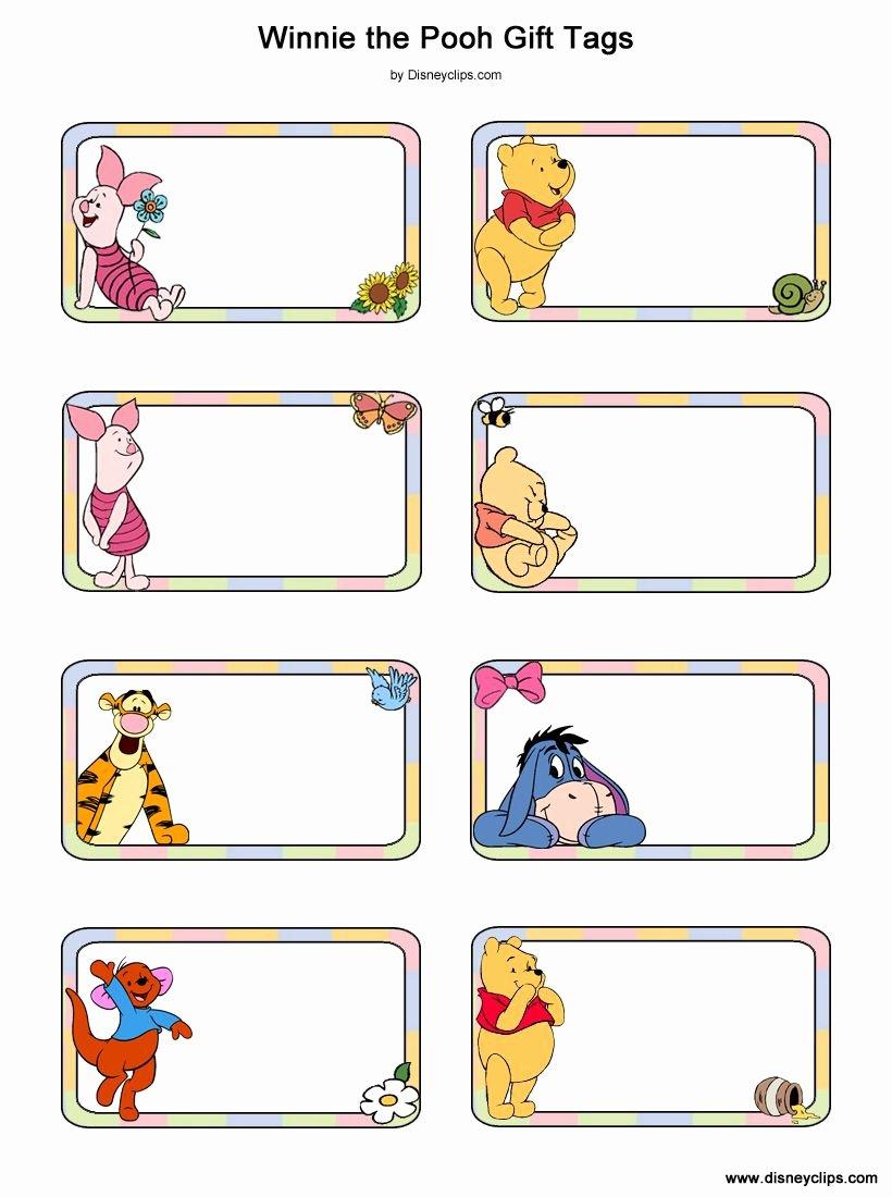 Disney Gift Certificate Template New Winnie the Pooh Piglet Tigger Eeyore Roo Baby Pooh