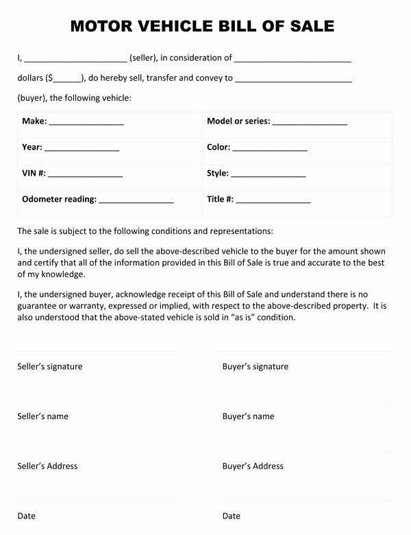 Dmv Bill Of Sales form Lovely Download Bill Sale form Pdf