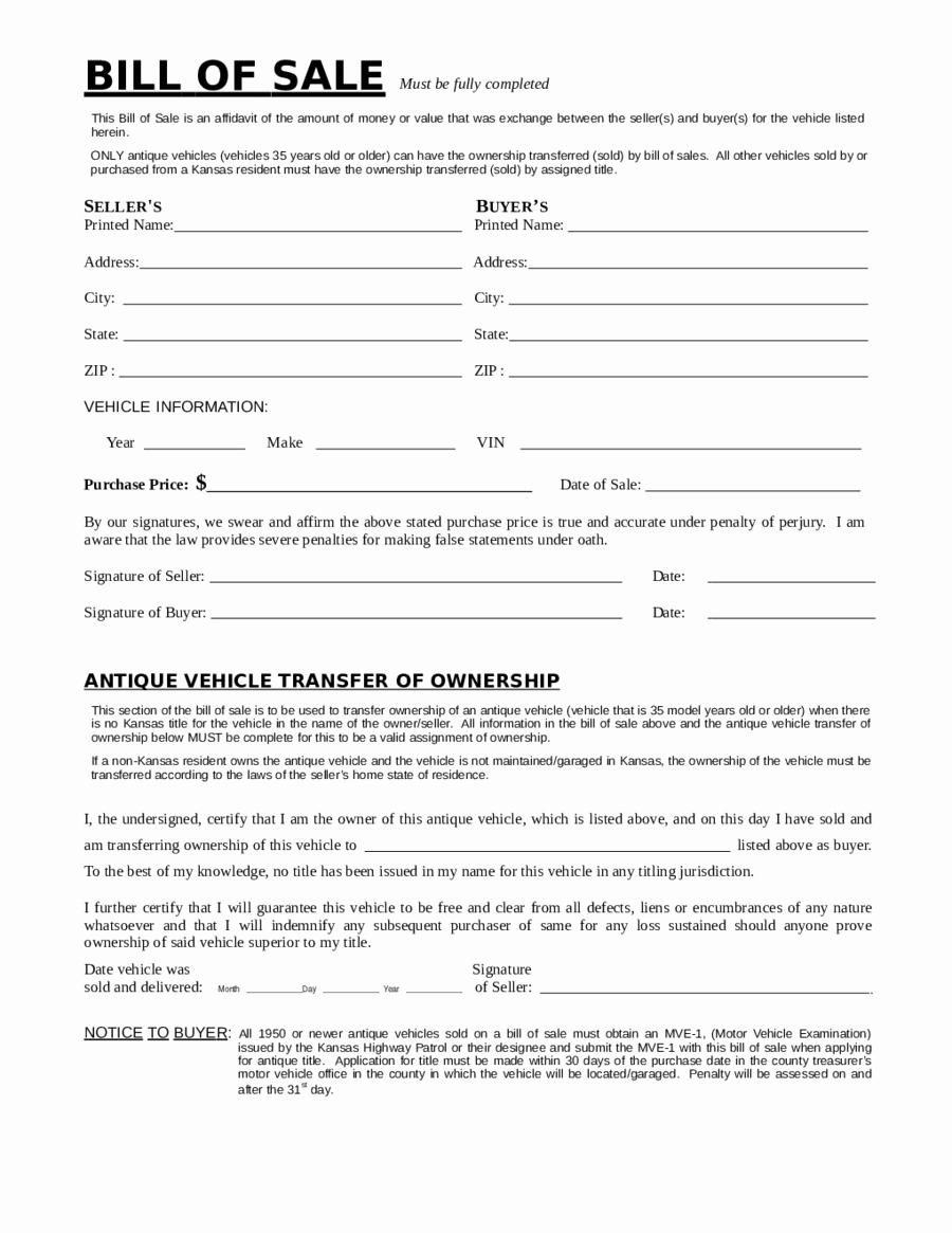 Dmv Bill Of Sales form Unique 2019 Dmv Bill Of Sale form Fillable Printable Pdf