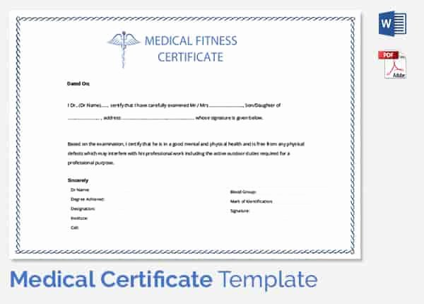 Doctor Certificate for Sick Leave Template Beautiful Medical Certificate format for Sick Leave for Student