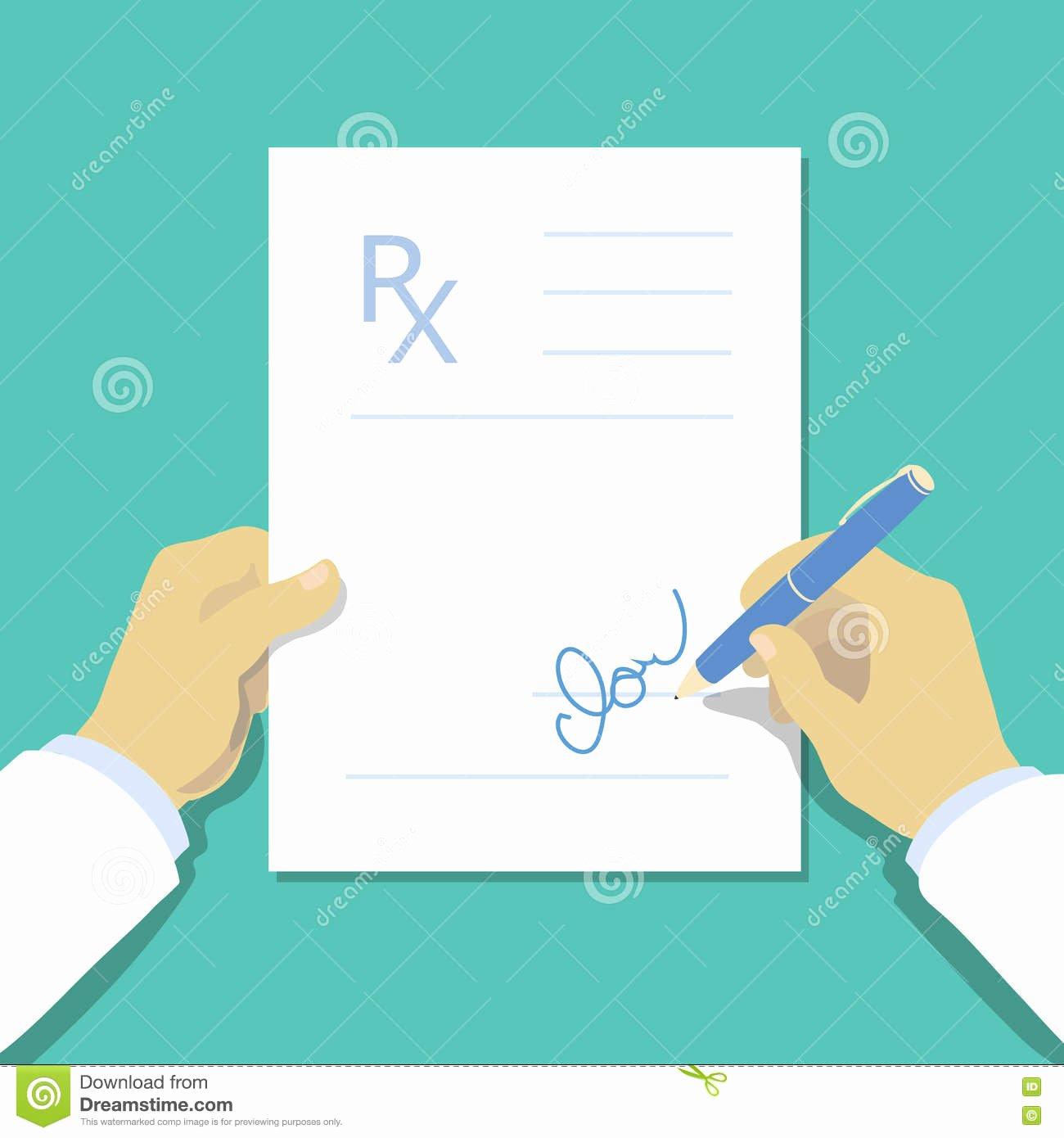 Doctor Prescription Pad Template Best Of Medical Prescription Pad Flat Design Style Rx form Stock
