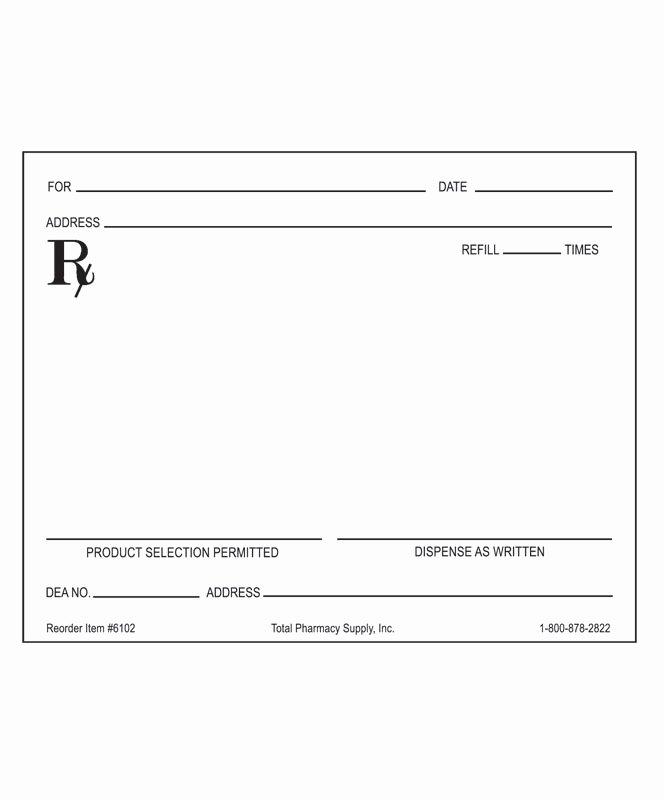 Doctor Prescription Pad Template Fresh 26 Of Blank Prescription form Doctor Template