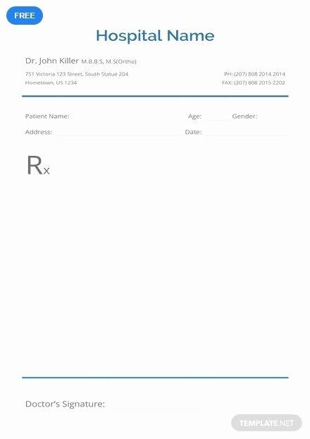 Doctor Prescription Pad Template Inspirational Free Blank Prescription Easter
