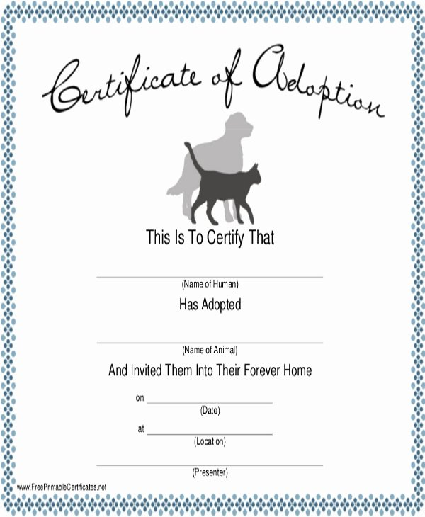 Dog Birth Certificate Templates Best Of Dog Certificate Template 13 Pdf Ai Word Psd
