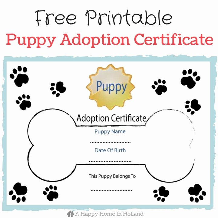 Dog Birth Certificates Printable Lovely Children S Dog themed Party Ideas Lots Of Fun Ideas and