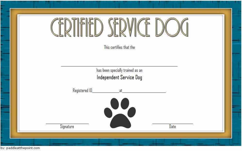 dog training certificate template