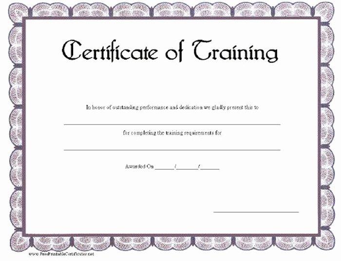 Dog Training Certificate Template Fresh 15 Training Certificate Templates Free Download Designyep