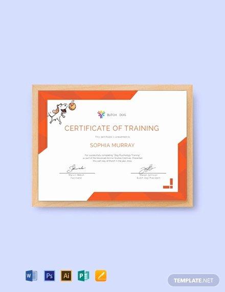 Dog Training Certificate Template Inspirational Free Dog Training Certificate Template Word