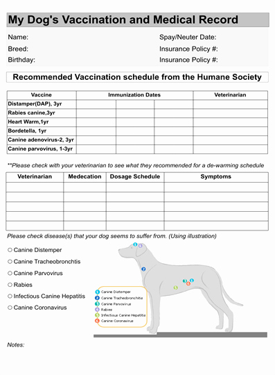 Dog Vaccination Certificate Template Lovely Dog Vaccination Record – Dogsora