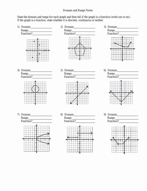 Domain and Range From Graphs Worksheet Awesome Domain and Range Worksheet by Julielong Flipsnack