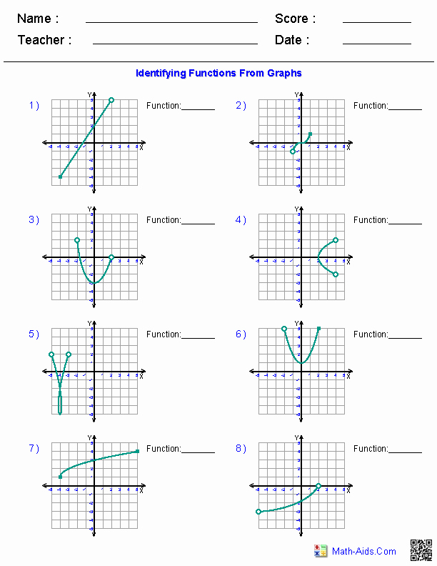 Domain and Range Graph Worksheet with Answers Best Of Algebra 1 Worksheets