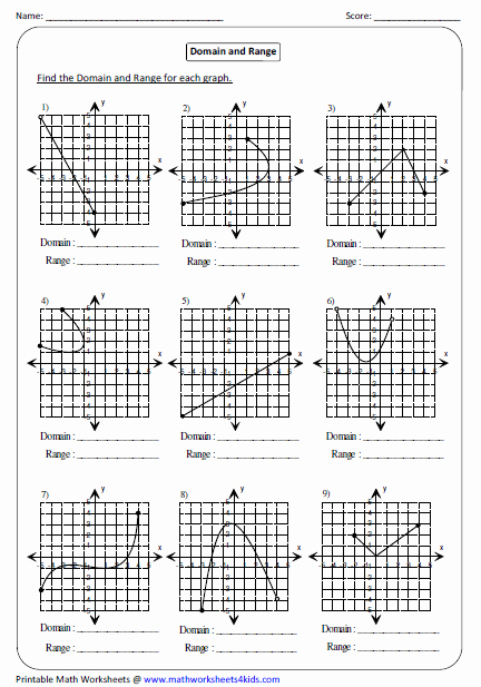 Domain and Range Graph Worksheets Fresh Function Worksheets