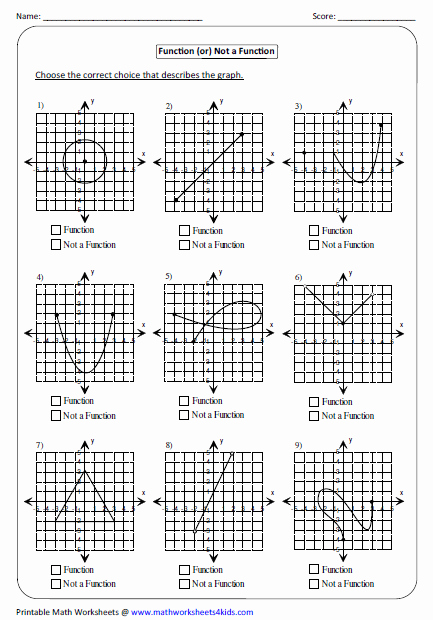 Domain and Range Graph Worksheets Lovely Identifying Function Not A Function