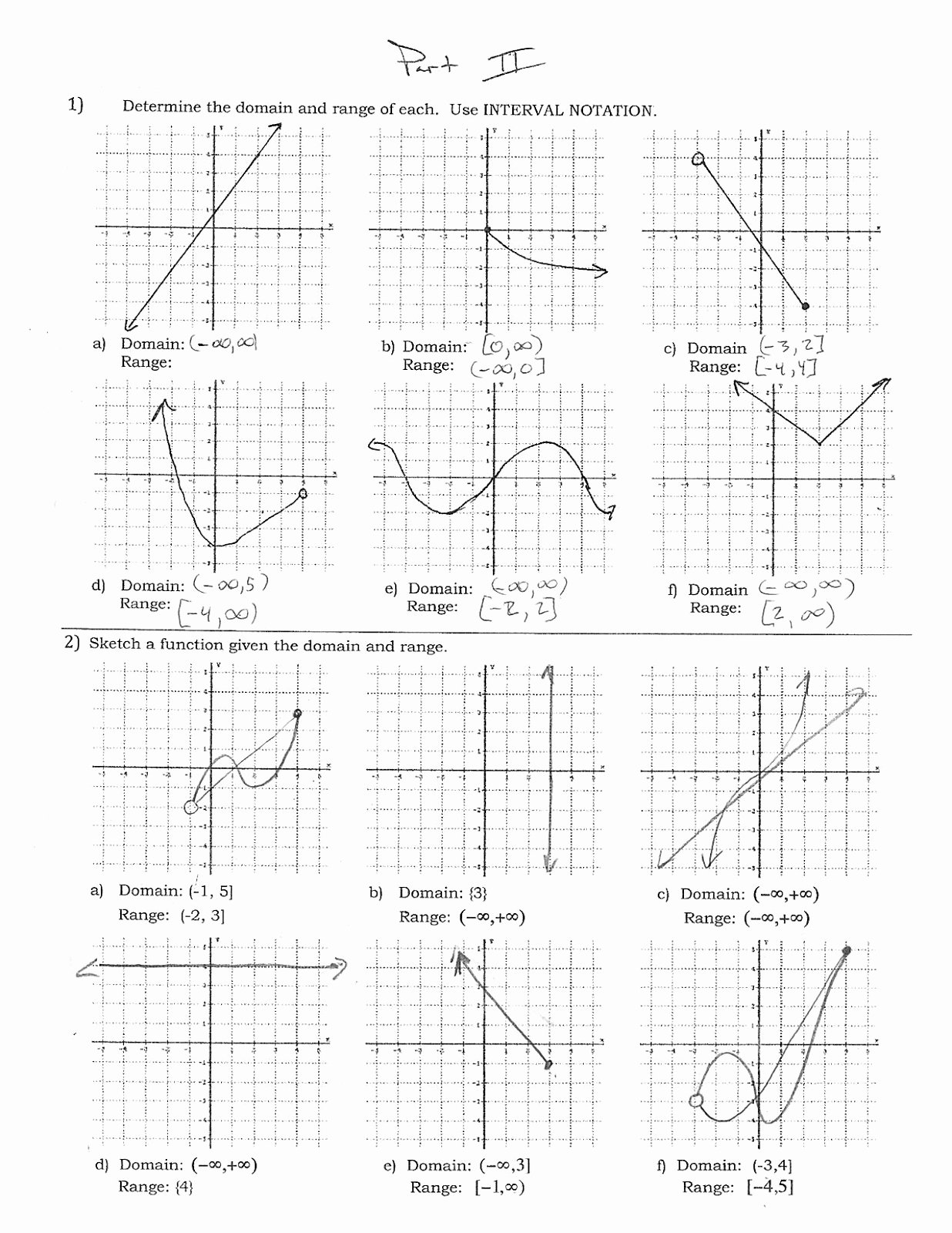 Domain and Range Of Graphs Worksheet Answers Beautiful Mr Suominen S Math Homepage November 2012