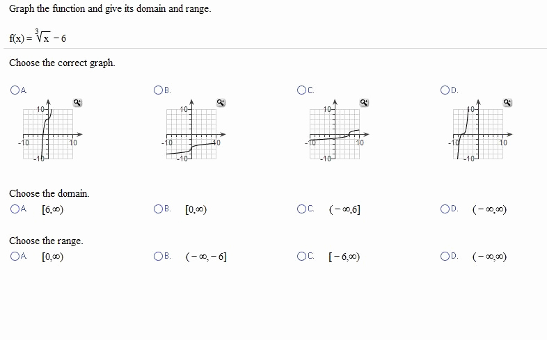 Domain and Range Of Graphs Worksheet Answers Beautiful solved Graph the Function and Give Its Domain and Range