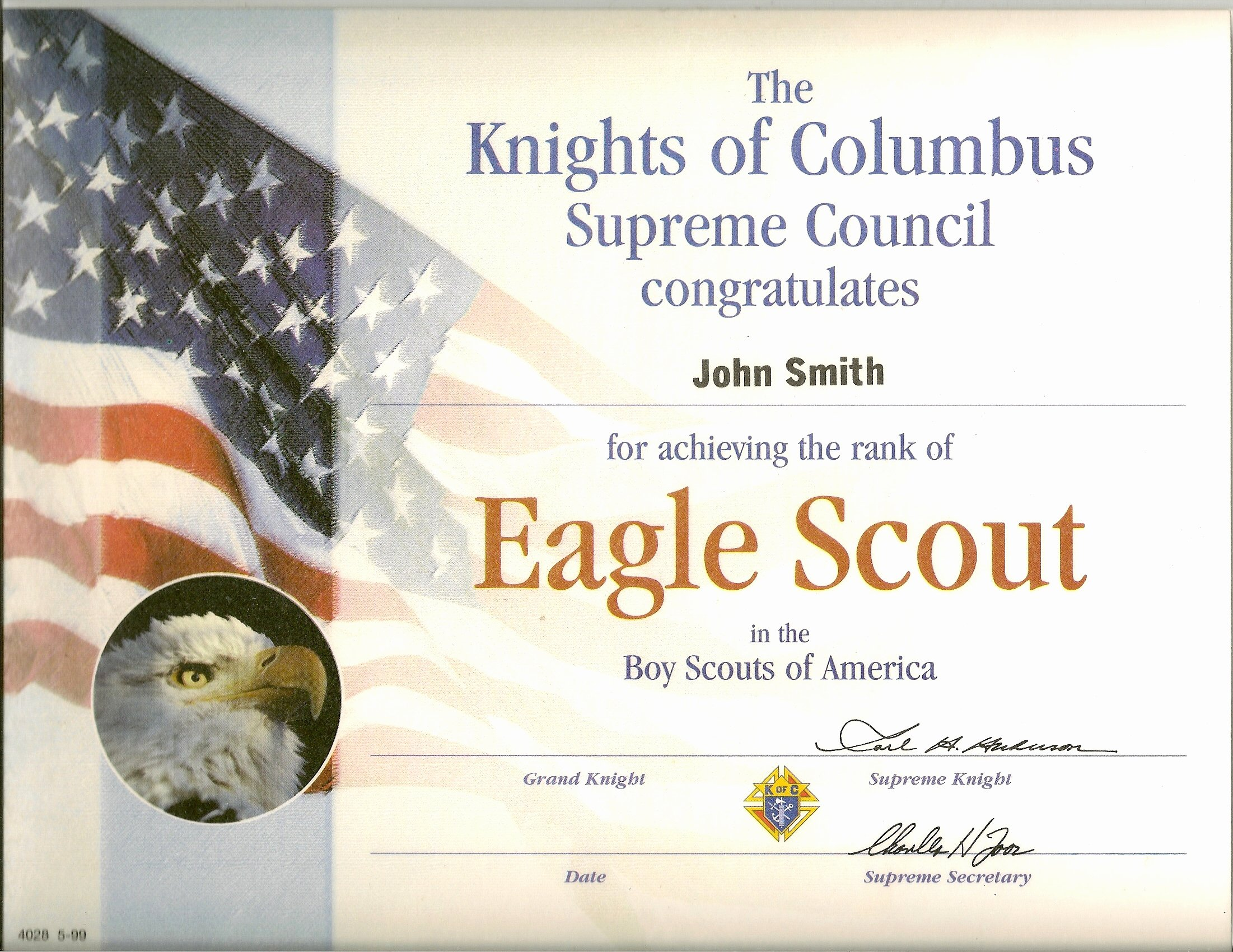 Eagle Scout Certificate Template Awesome Eagle Scout Certs