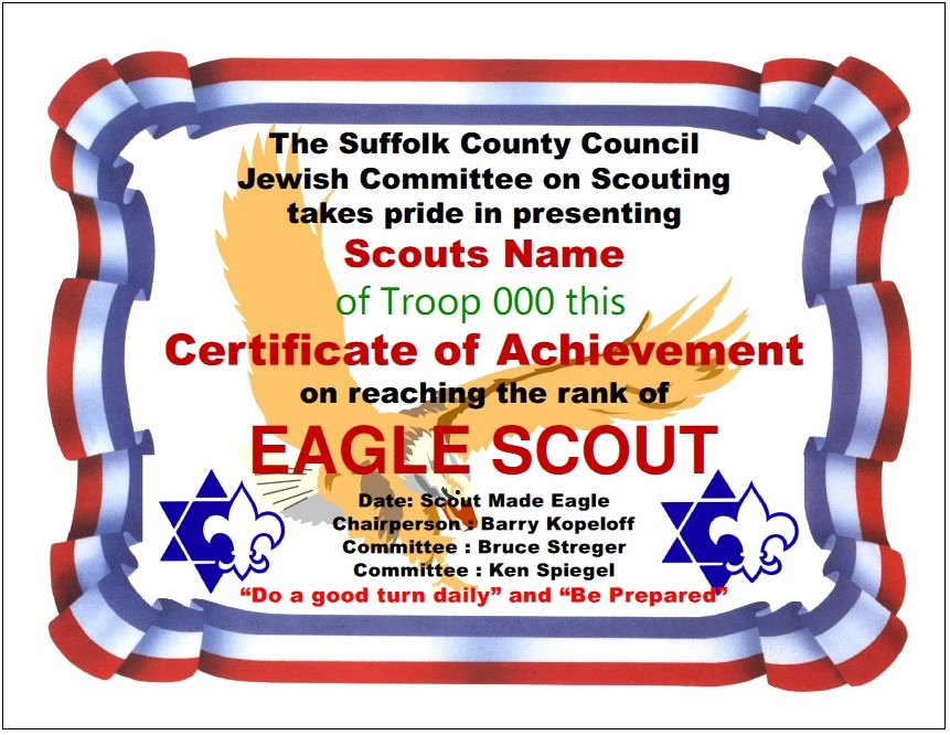 Eagle Scout Certificate Template Awesome Special Eagle Scout Recognitions