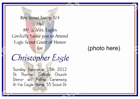 Eagle Scout Certificate Template Elegant Eagle Scout Court Honor Program