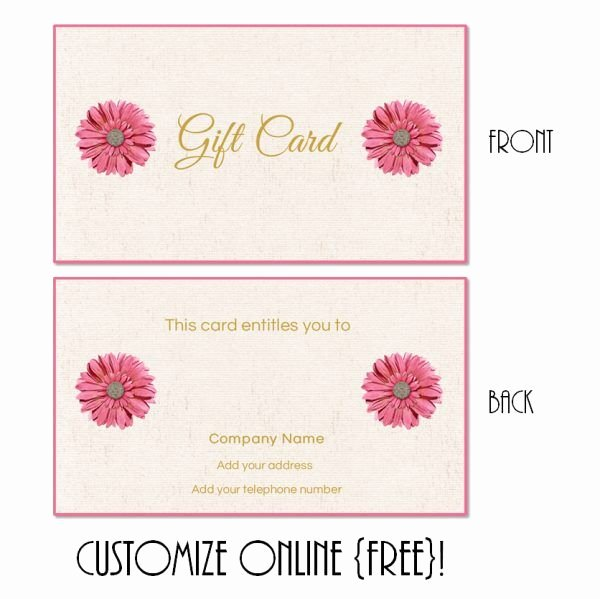 Easter Gift Certificate Template Best Of Free Printable T Card Templates that Can Be Customized