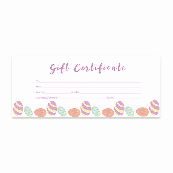 Easter Gift Certificate Template Elegant Items Similar to Easter Eggs Blank Gift Certificate