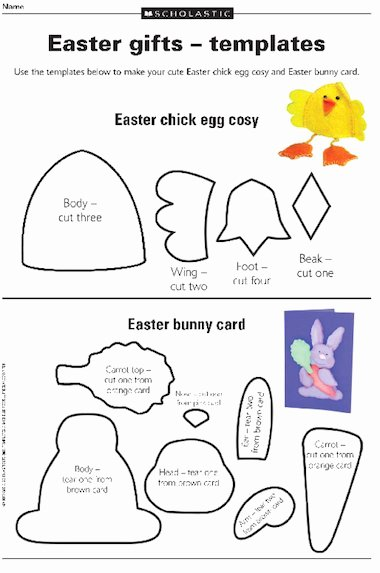 Easter Gift Certificate Template Lovely Easter Ts – Templates – Free Primary Ks2 Teaching