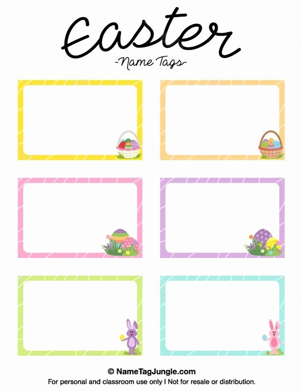 Easter Gift Certificate Template Luxury Pin by Muse Printables On Name Tags at Nametagjungle