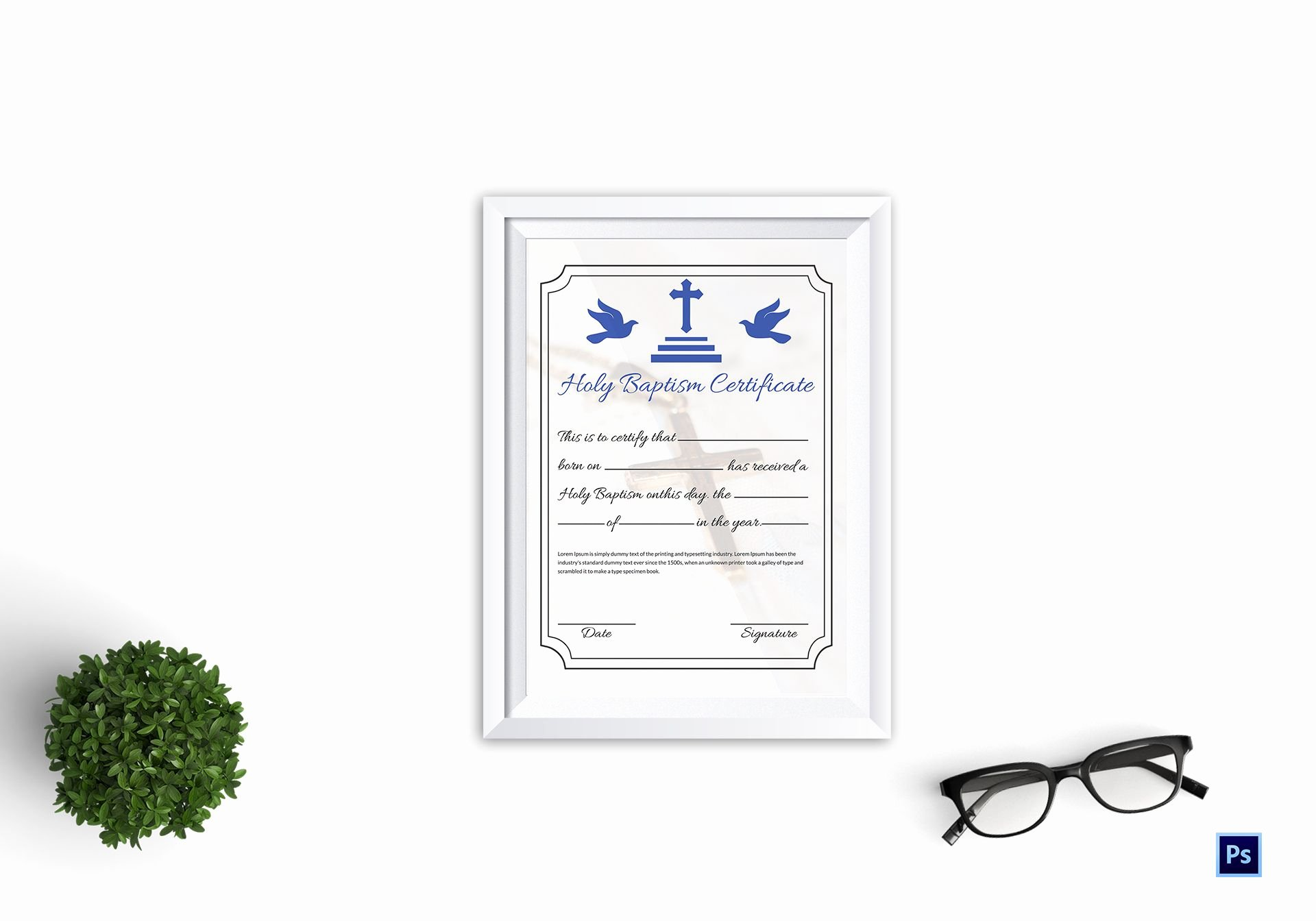 Editable Baptism Certificate In Word Awesome Holy Baptism Certificate Template In Adobe Shop