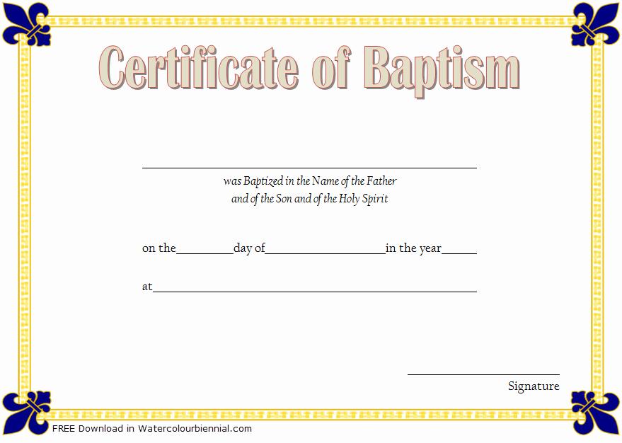 Editable Baptism Certificate In Word Fresh Baptism Certificate Template Word [9 New Designs Free]