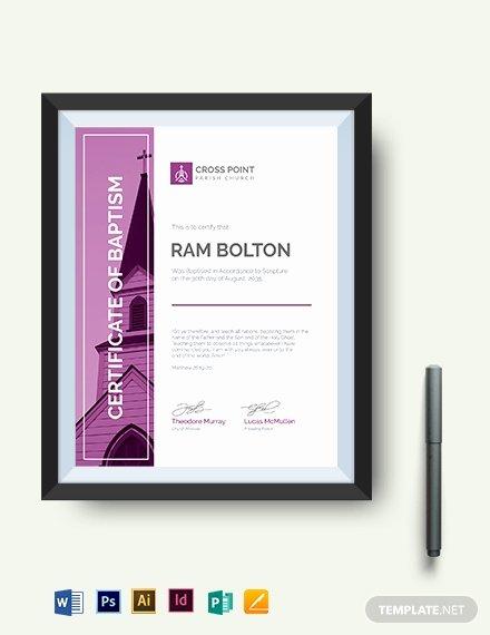 Editable Baptism Certificate In Word Luxury Modern Baptism Certificate Template Download 333