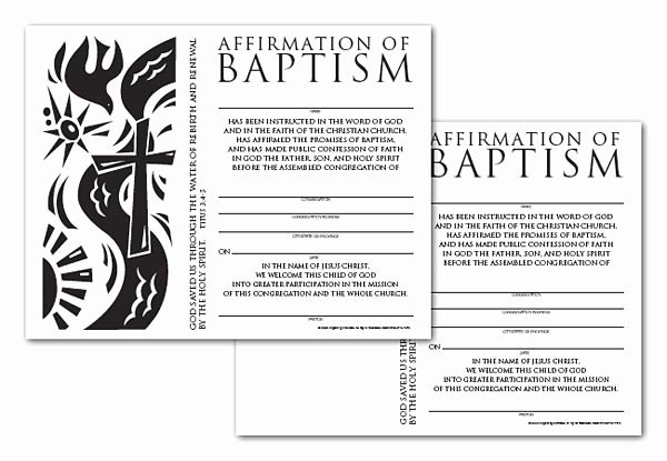 Editable Baptism Certificate In Word New Certificate Download Affirmation Of Baptism English