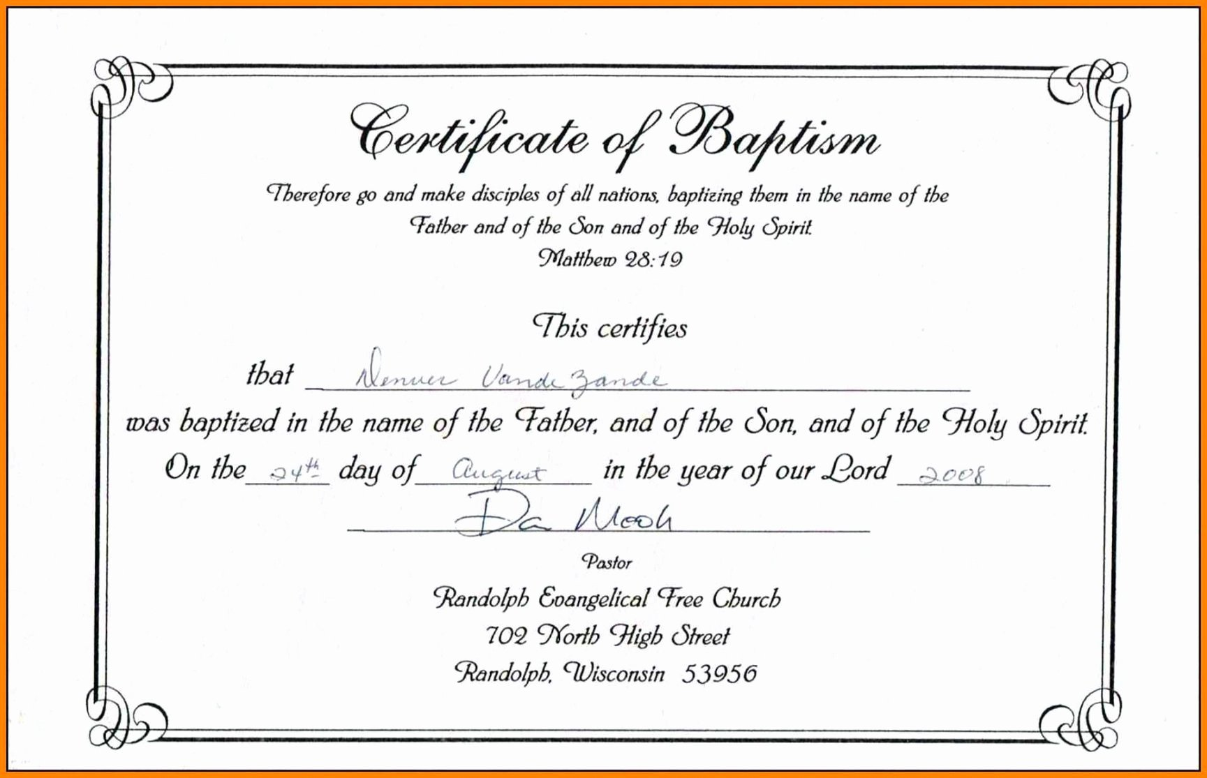 Editable Baptism Certificate In Word Unique Editable Baptism Certificate Template Publisher Download