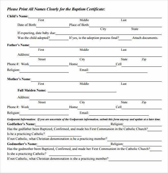 Editable Baptism Certificate In Word Unique Sample Baptism Certificate 23 Documents In Pdf Word Psd