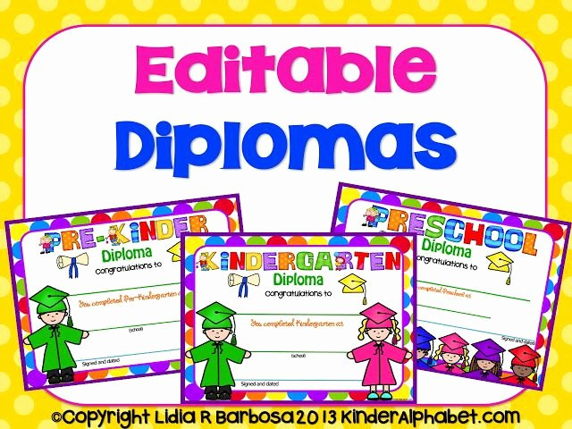 Editable Kindergarten Graduation Certificates Awesome Kinder Alphabet End Of the Year Ideas
