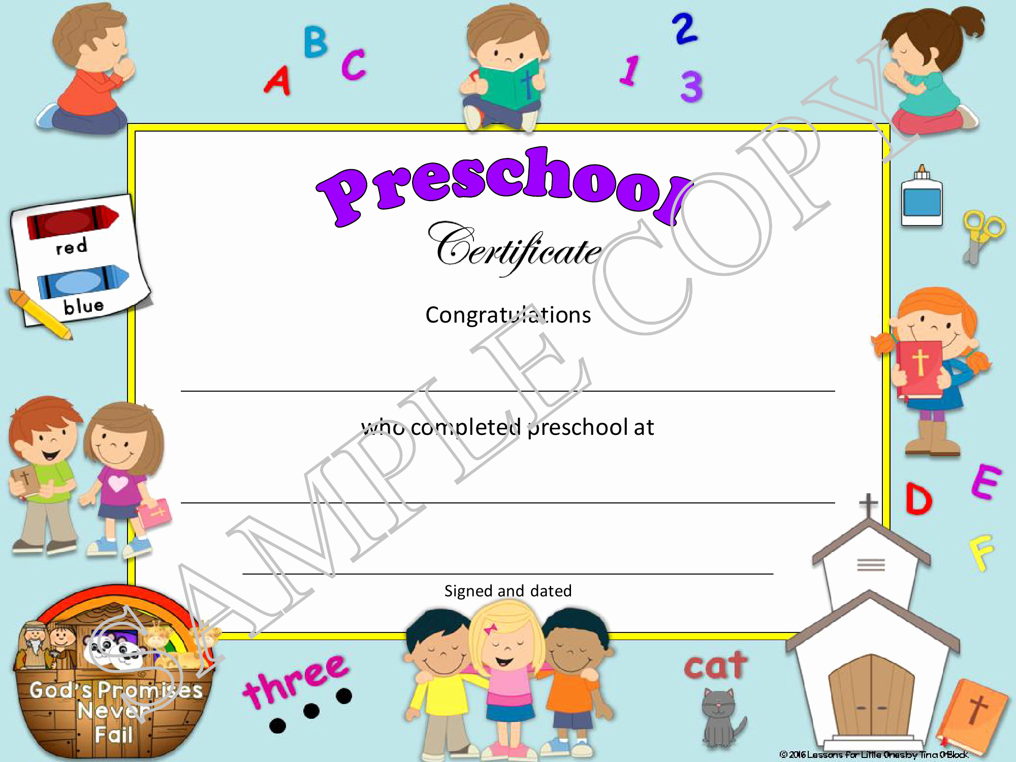 Editable Kindergarten Graduation Certificates Beautiful Chpreschooldiplomasample8 Lessons for Little Es by
