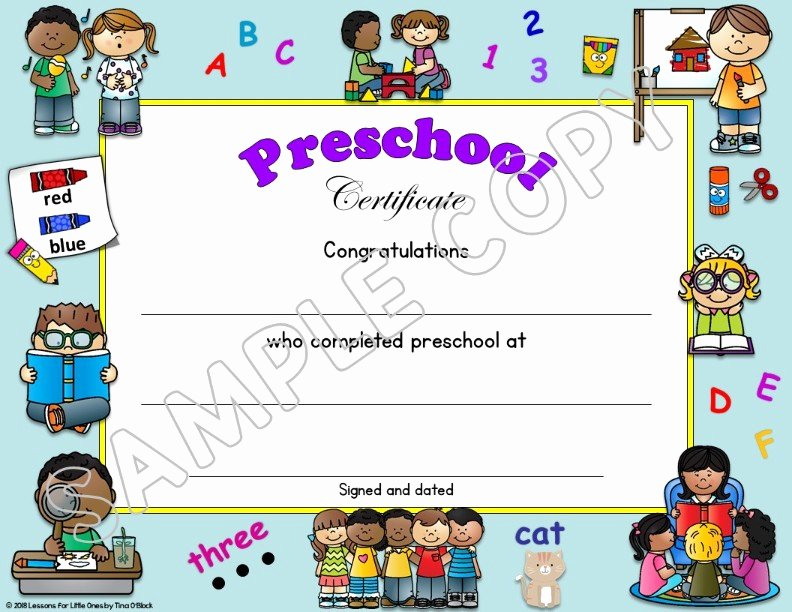 Editable Kindergarten Graduation Certificates Elegant Preschool Pre K Pre Kindergarten Diplomas Certificates