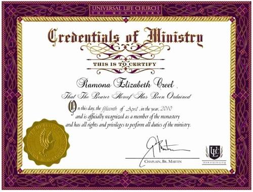 Elder ordination Certificate Template Beautiful ordination Certificate Templates