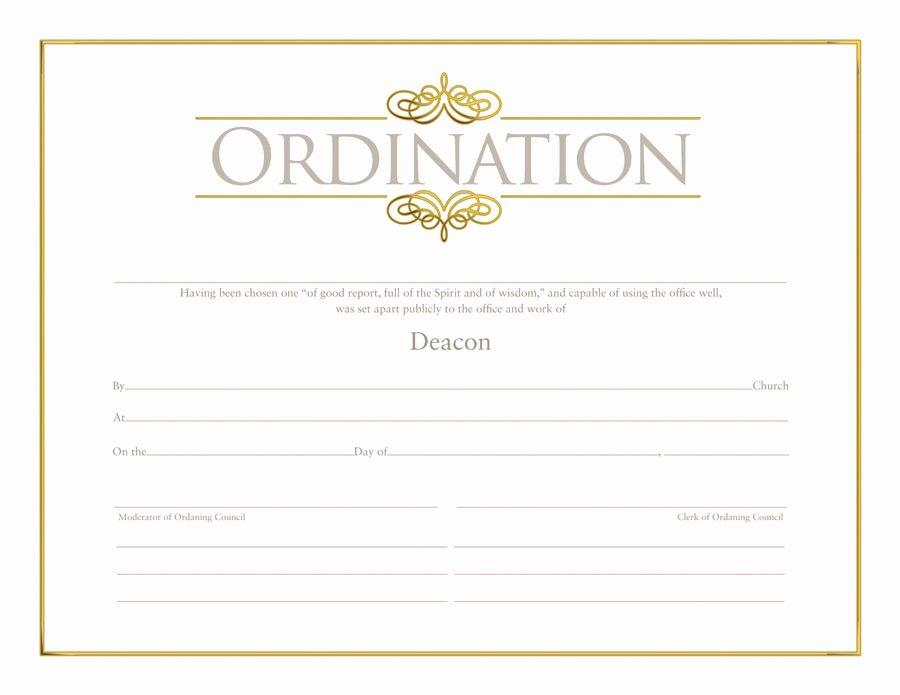 Elder ordination Certificate Template Inspirational Deacon ordination Certificate ordination Christian
