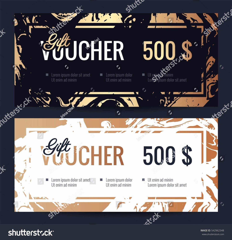 Elegant Gift Certificate Template Beautiful Gift Voucher Coupon Discount Elegant Gift Stock Vector