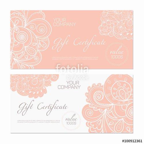 """Elegant Gift Certificate Template Beautiful """"elegant T Certificate Template Abstract ornamental"""
