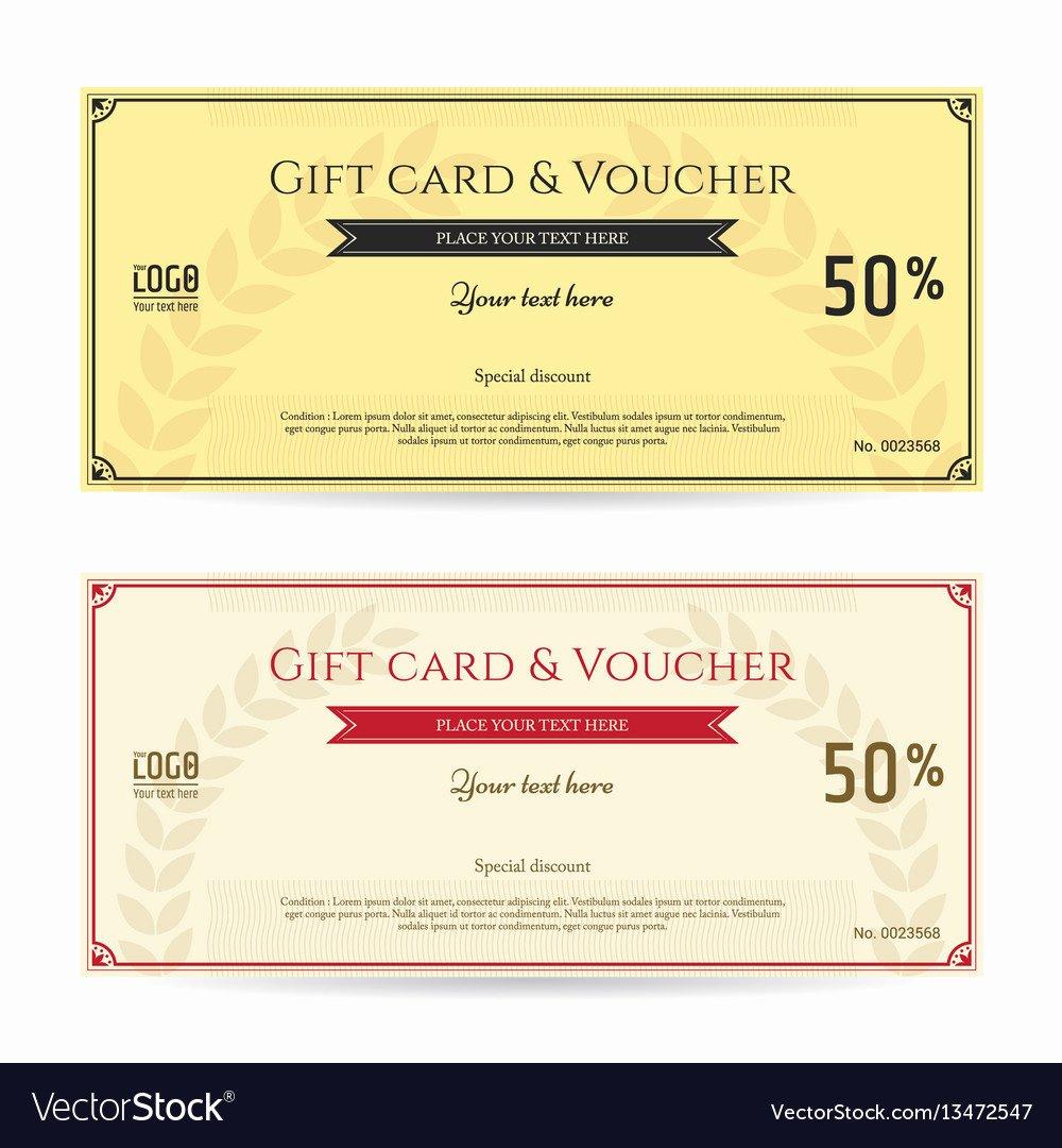 Elegant Gift Certificate Template Elegant Elegant Discount T Card and Voucher Template Vector Image
