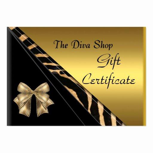 Elegant Gift Certificate Template Elegant Gift Certificate Card Elegant Gold Black Business