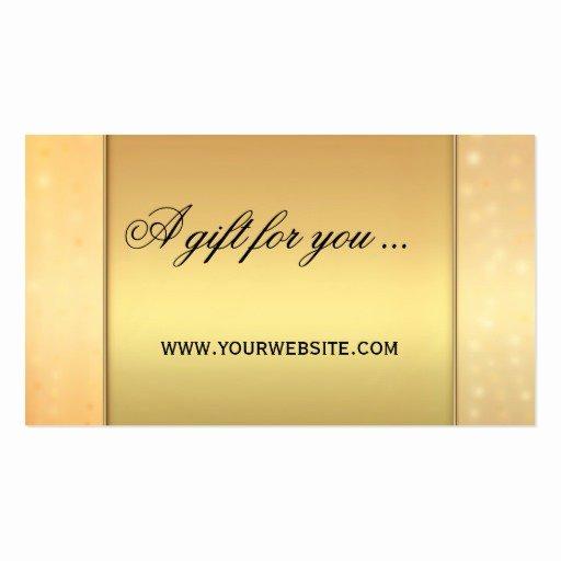 Elegant Gift Certificate Template Luxury Elegant Gold Bokeh Gift Certificate Template Business Card