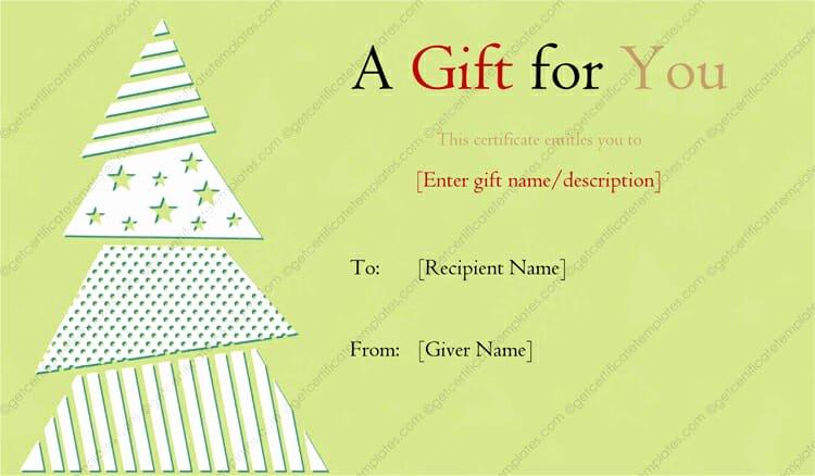 Elegant Gift Certificate Template New Elegant Christmas Tree Designed Gift Certificate Template