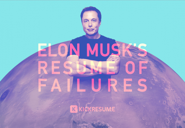Elon Musk One Page Resume Awesome Elon Musk's Resume Of Failures Proves that they aren't Big