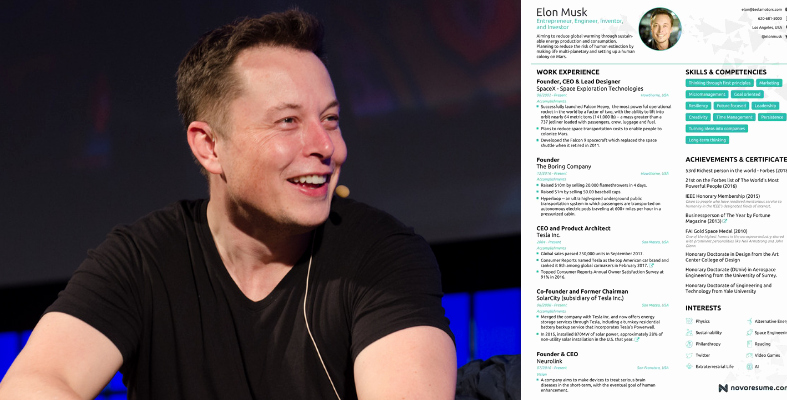 Elon Musk One Page Resume Beautiful Elon Musk Ly Needs E Page for His Resume