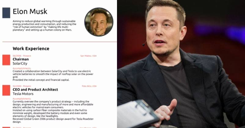 Elon Musk One Page Resume Inspirational This E Page Elon Musk Resume Will Give You Cv Writing